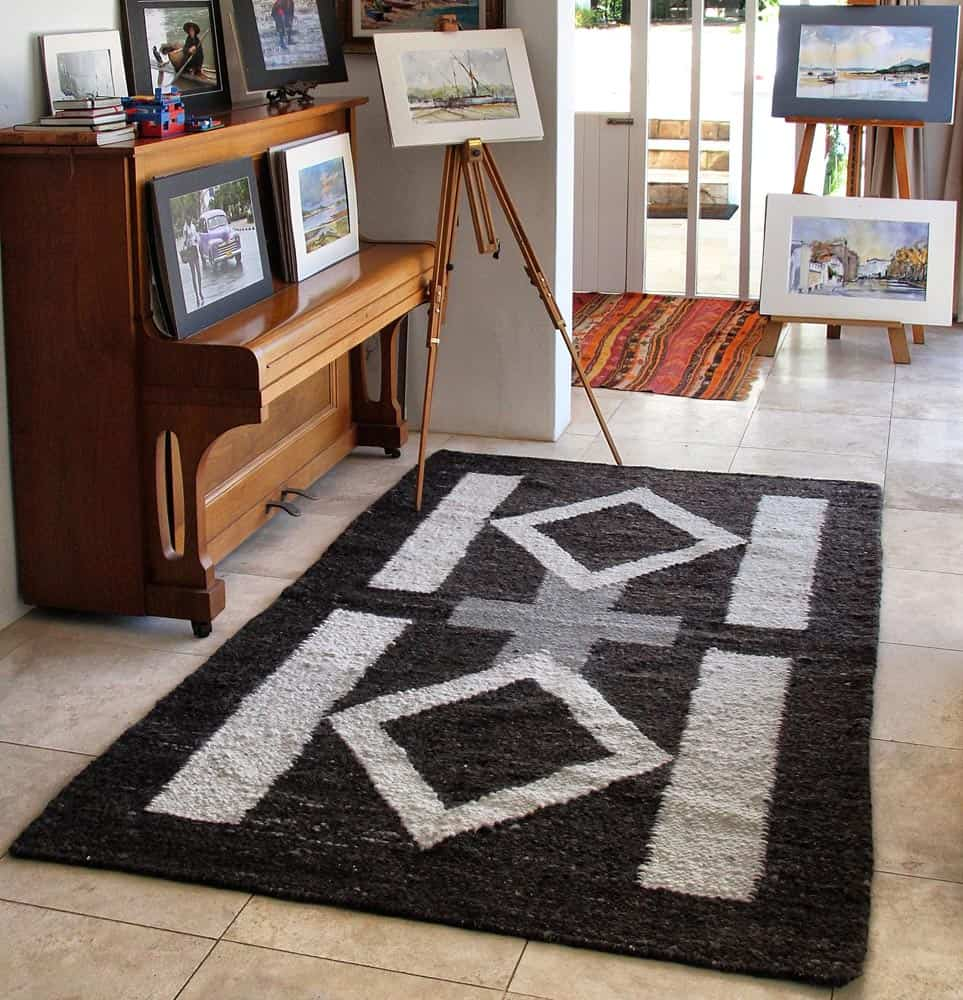 area african motif rugs, rugs with african motif, area rugs, wool area rugs, handmade area rugs
