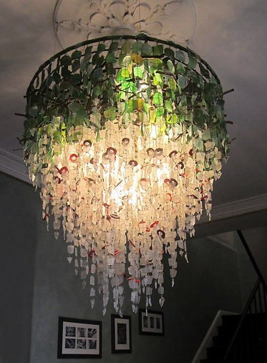 Sustainable Recycled Glass Chandelier