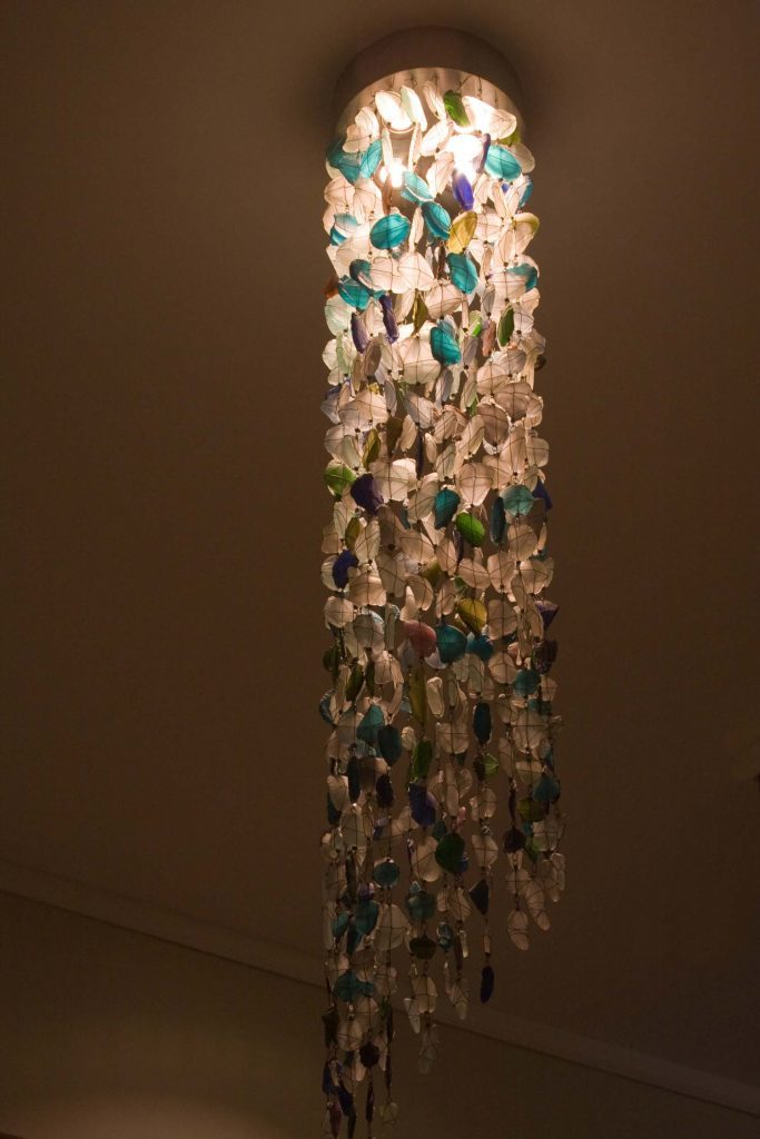 recycled-glass-chandelier│Tube Shape