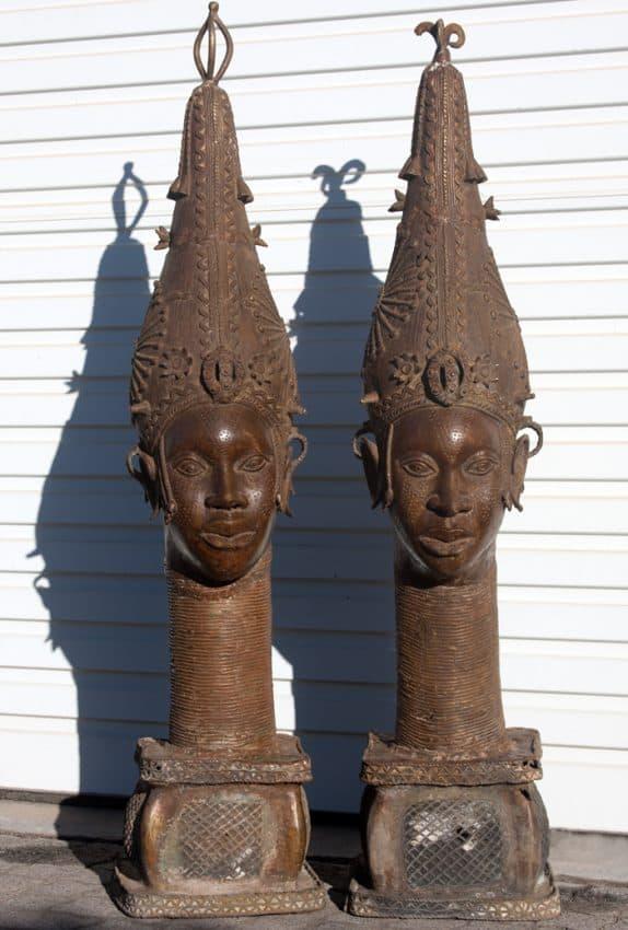 Antique Bronze African sculptures, bronze african statues, bronze art Africa