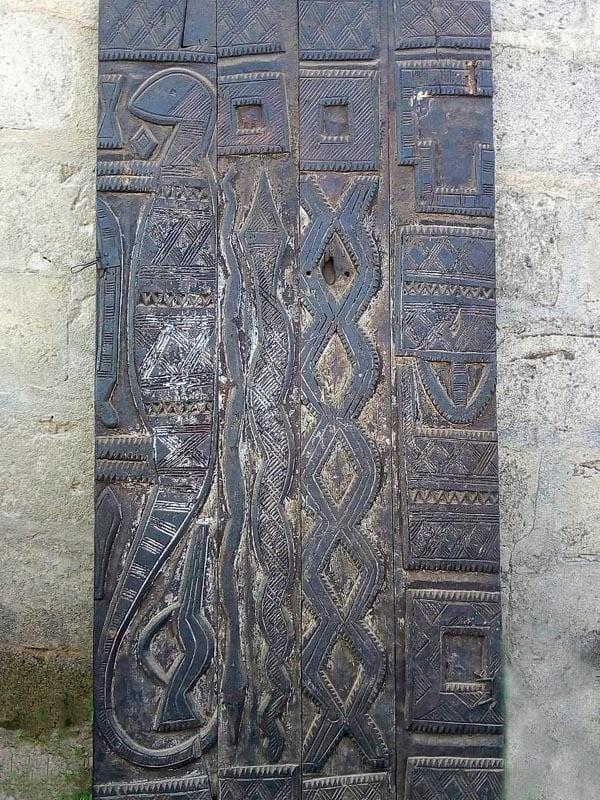 African Hand-carved Door