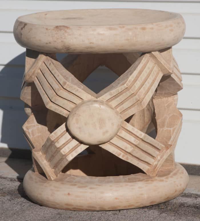 African Decor Bamileke side table