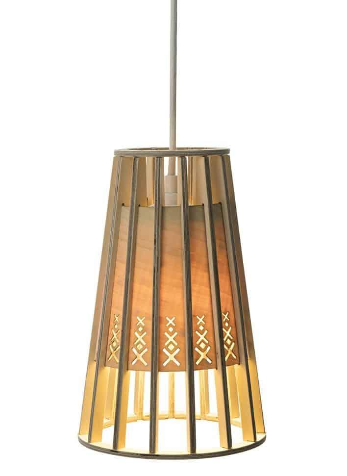 Bamboo Pendant Lighting Fixture