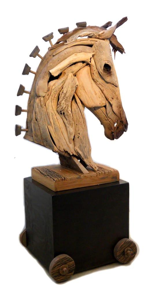 Sculptured Wooden Horse ,Trojan Horse
