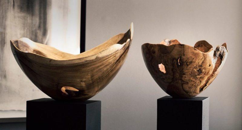 Wood Chiseled Bowls
