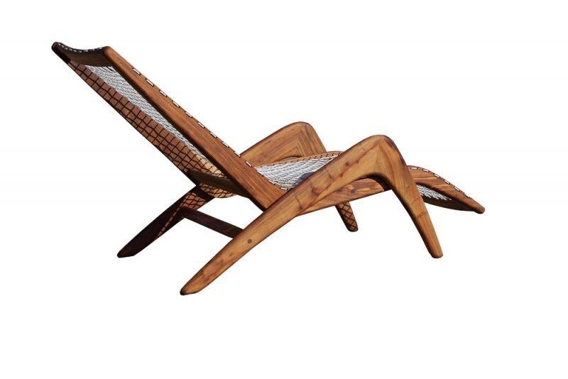 African Furniture Indoor & Outdoor Wood Lounger