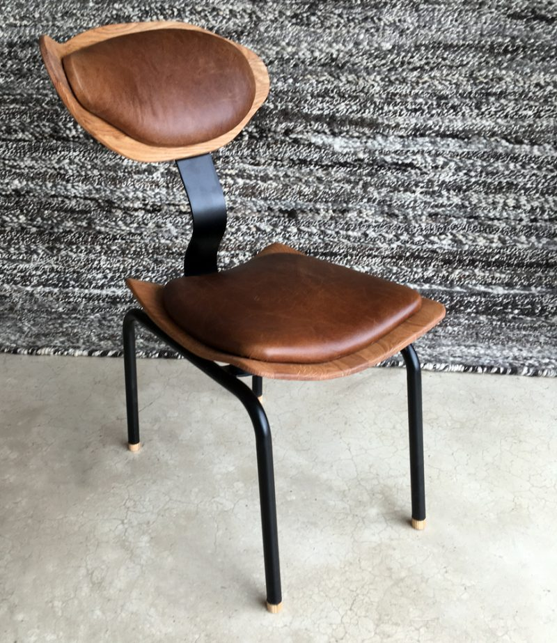 Oakwood & Leather Dining Room Chair