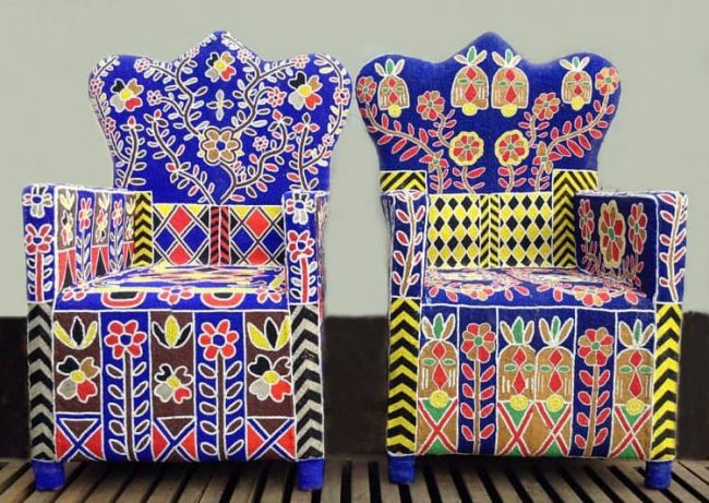 African Beaded Chairs & Decor 40