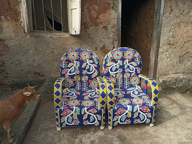African Beaded Chairs & Decor 46