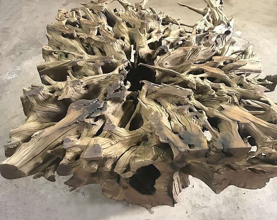 Tree Root dining room table 1000 x 1300 x 700H