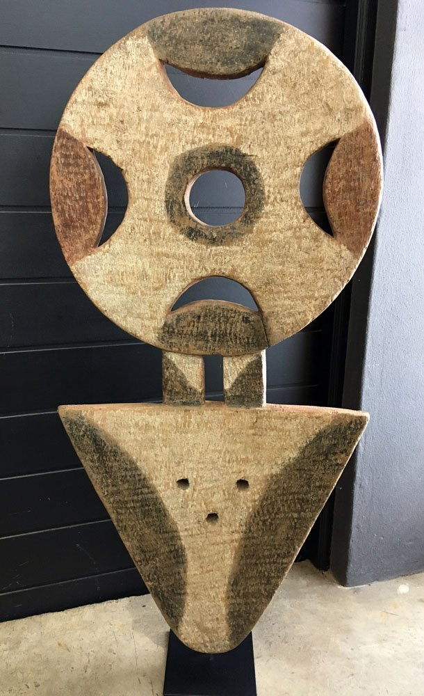 Bedu Mask 120H x 54W x 18D Ivory Coast